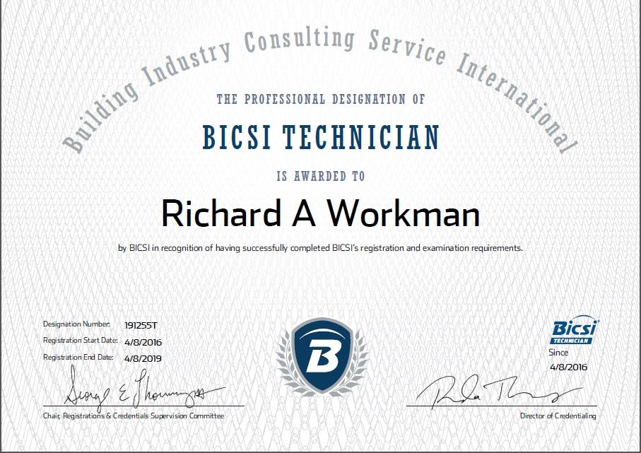 bisci certificate bicsi know tech certified why recent below